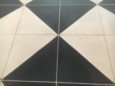 Cement Tiles Stain Removal Clean | After the cleaning and treatment there is no sign of the etch stain at all