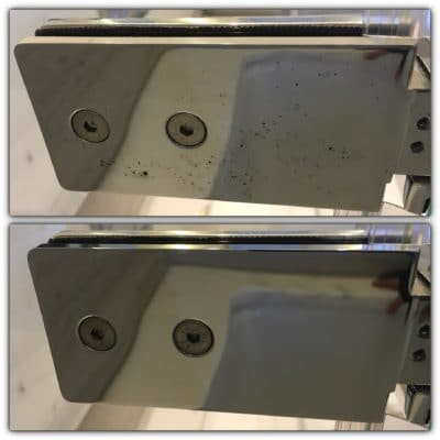 Chrome Rust Polishing | Before and after of the rust polishing.