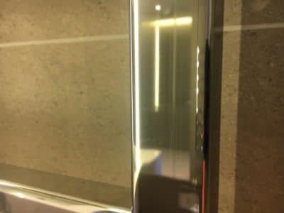 Chrome Scratch Repair | A close up view after the repair leaves a scratch free clean look.