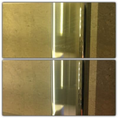 Chrome Scratch Repair | Chrome scratch repair, before and after.