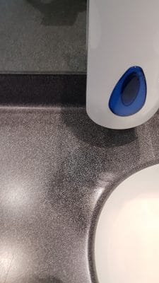 Corian Repairs To Mask Tap Holes | Colour is matched and sealed