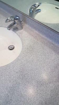 Corian Repairs To Mask Tap Holes | A wide angle view