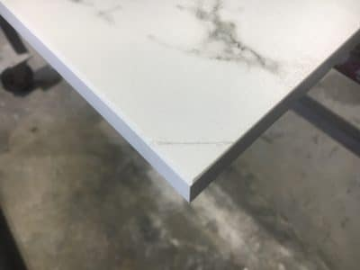 Dekton Chip Repairs Scaled   Broken corner glued back