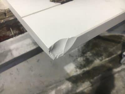 Dekton Chip Repairs Scaled   Large chip in Dekton corner
