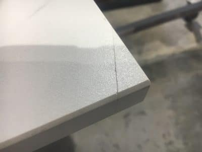 Dekton Chip Repairs Scaled | Cracked corner