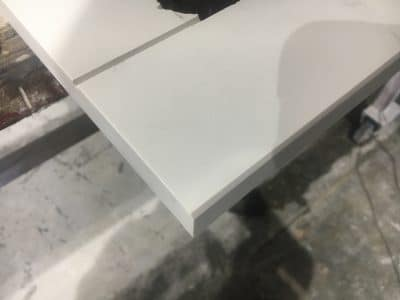 Dekton Chip Repairs Scaled | The chip is filled and shaped to a new finish