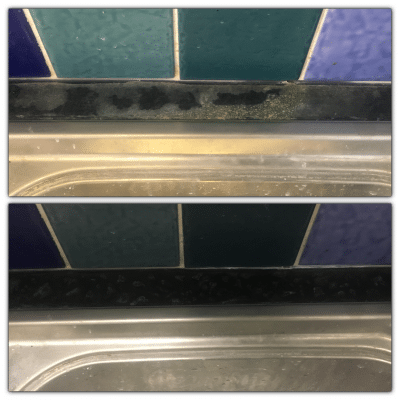 Formica Laminate Kitchen Top Repair | Before and after the repair