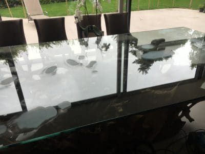 Glass Polishing Repair Custom Table Top |