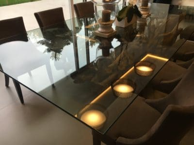 Glass Polishing Repair Custom Table Top | View of the finished table top that now looks as good as new with no marks at all