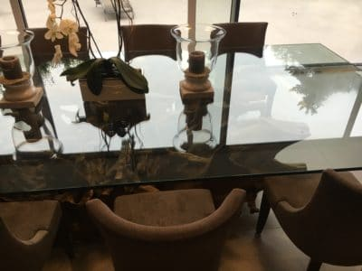 Glass Polishing Repair Custom Table Top | All done and shiny like a new table top