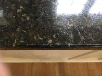 Granite Kitchen Top Edge Repair | After the repair there is no sign of the chip