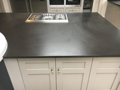 Granite Top Stain Treatment | Smears and surface staining are obvious on the surface.