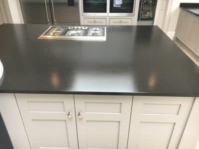 Granite Top Stain Treatment | After the deep clean and treatment the surface is looking clean and new.