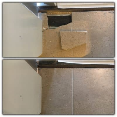 Marble Floor Tile Crack Repair | Broken tile before and after... #bespokerepairs