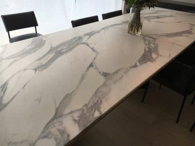 Marble Table Red Wine Stain Removal Repair | The red wine ring marks are very visible