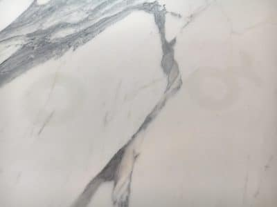 Marble Table Red Wine Stain Removal Repair | Once the stains are removed, only a chemical mark remains