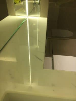 Marble Top Etch Stain Repair | The marble is shiny and restored to new condition