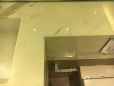 Marble Top Etch Stain Repair | The main etch stain is completely gone