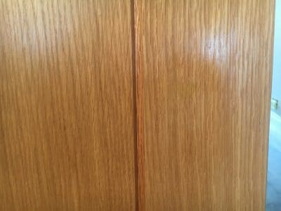 Oak Door Repair Chip Frenchpolish | After the repair, the damage is gone