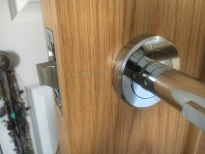 Oak Wood Repairs To Handrail And Doors | Deep scratch on the door near the handle