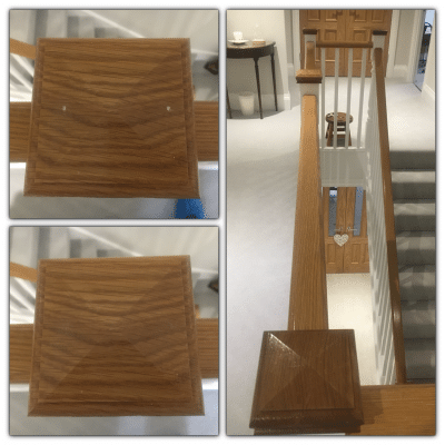 Oak Wood Repairs To Handrail And Doors |
