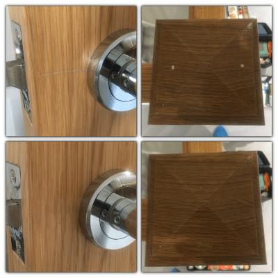 Oak Wood Repairs To Handrail And Doors |