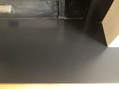 Slate Hearth | Zoomed view after the repair shows no sign of the previous damage at all and the surface is renewed.