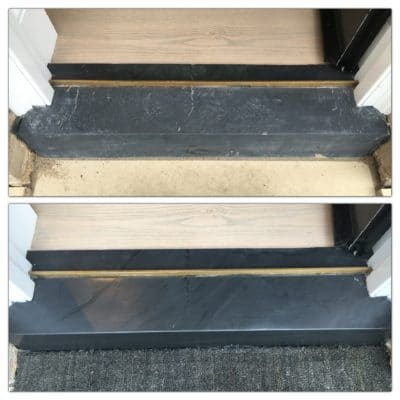Slate Threshold | Slate threshold before and after.