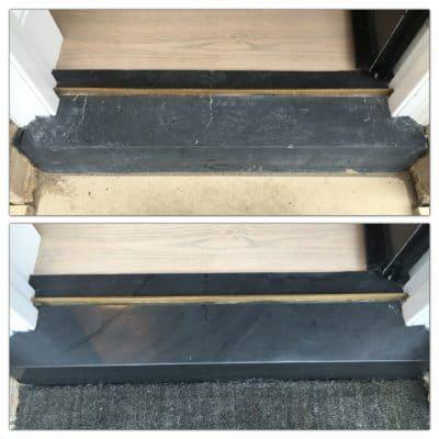 Slate Threshold | Slate threshold before and after.