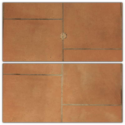 Terracota Clay Tile Repair | Before and after shots of the work