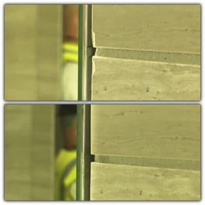 Tile Edge Chip Repair | marble tile edge repairs before and after.