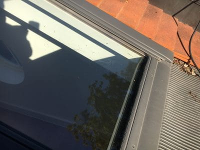 Velux Window Glass Scratch Repair | From outside the scratches are very obvious
