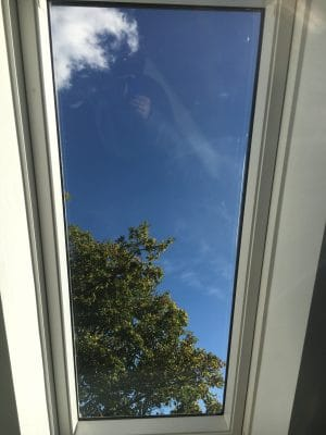 Velux Window Glass Scratch Repair | After the polishing process, the glass is clean and scratch free
