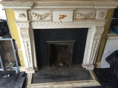 Classic Fireplace Complete Restoration Galiford Try | General look at the fireplace before the work. The chamber was completely blocked and couldn't breath out smoke.
