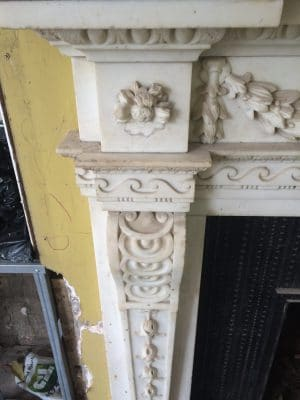 Classic Fireplace Complete Restoration Galiford Try | Left hand side detailed view.