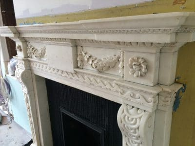 Classic Fireplace Complete Restoration Galiford Try | Top is all restored and clean.