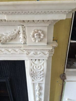 Classic Fireplace Complete Restoration Galiford Try | Right hand side, No traces of contact glue at all and clean stone.