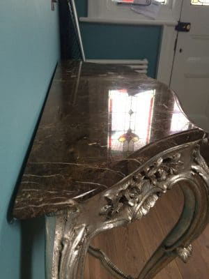 Marble Vanity Unit Etch Removal And Polish | The Unit is completely polished to a perfect shine and sealed.