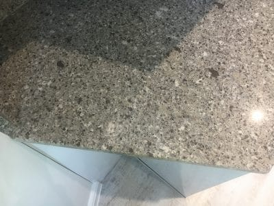 Quartz Repair Restoration Of Kitchen Worktop | Close up of the work and artistic joint