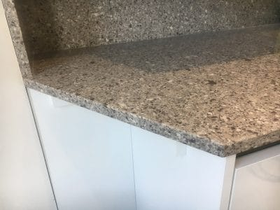 Quartz Repair Restoration Of Kitchen Worktop | Once the work is complete the new piece blends nicely with the worktop