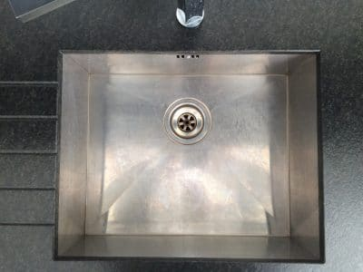 Stainless Sink Restoration Polish Scratch Removal | Original condition of sink.