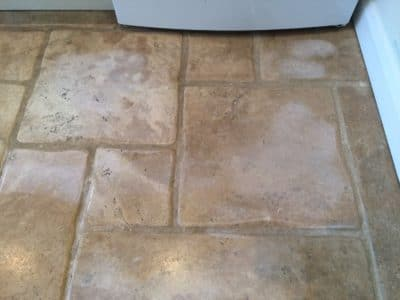 Stone Floor Tile Scratch And Stain Removal | View of polished areas on the floor.