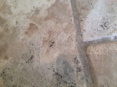 Stone Floor Tile Scratch And Stain Removal | No scratches can be seen anymore.