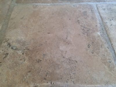 Stone Floor Tile Scratch And Stain Removal | Another close up, scratches are gone.