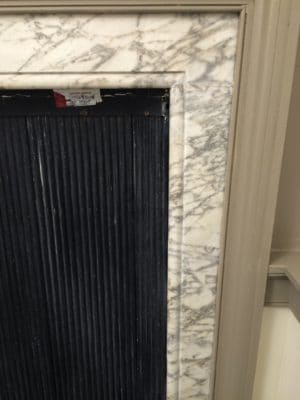 Traditional Palace Marble Fireplace Restoration C | The previous cracks are gone