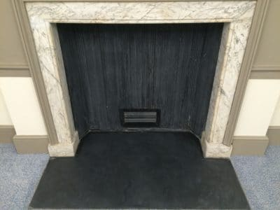 Traditional Palace Marble Fireplace Restoration C | After the deep clean and restoration the fireplace looks much better