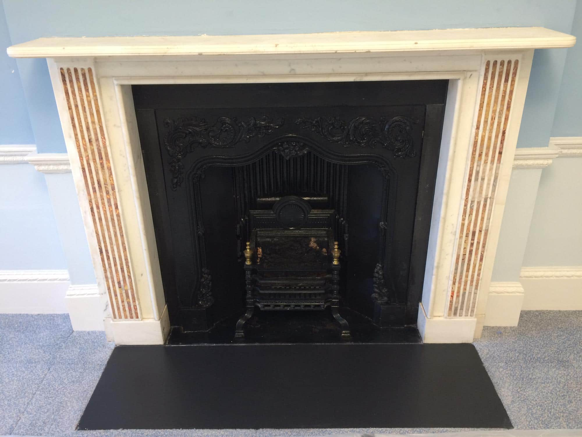 marble fireplace restoration fireplace ideas
