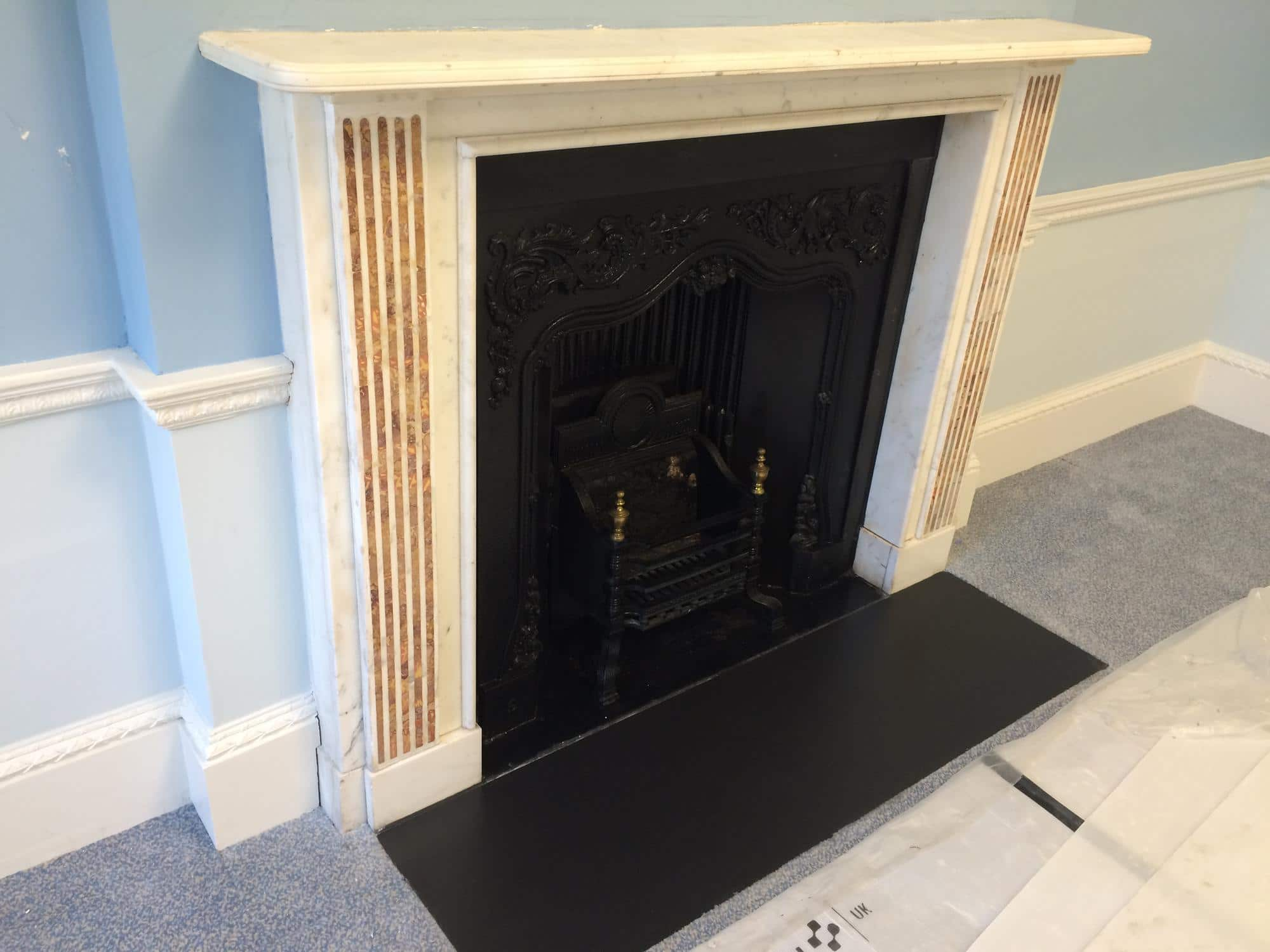 A fireplace clean up and restoration project to a listed building in London. The project demanded using traditional methods only approved by the British museum and conservation rules. I was privileged and delighted to take part of it!